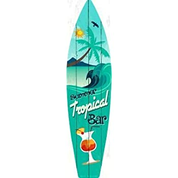 with Sticky Notes Another Day in Paradise Metal Novelty Surfboard Sign