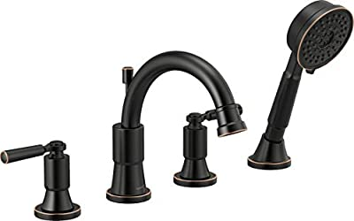Delta Faucet PTT4523-OB Westchester Roman Tub Trim Kit with Hand Shower, Oil-Rubbed Bronze