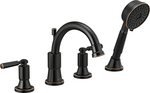 Peerless Faucet PTT4523-OB Westchester Roman Tub Trim Kit with Hand Shower, Oil-Rubbed Bronze