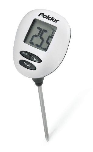 Polder Digitales Ofenthermometer, Geschwindigkeit: Lesen Thermometer, weiß
