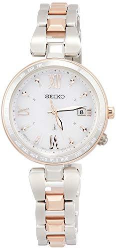 [セイコーウォッチ] 腕時計 ルキア ソーラー電波 ダイヤモンド入り白文字盤 チタンモデル プラチナダイヤシールド サファイアガラス SSQV056 レディース シルバー