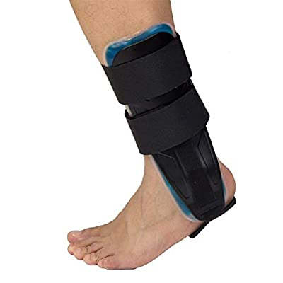 Ankle Brace with Strap Knee Brace, Ankle Stabilizer Support Lace Up Brace for Pain Relief, Injury Recovery, Strain or Sprain (Gel Brace, Ge Ankle Brace)