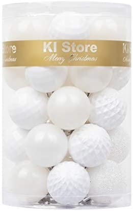 KI Store 34ct Christmas Ball Ornaments 1 57 Small Shatterproof Christmas Decorations Tree Balls product image