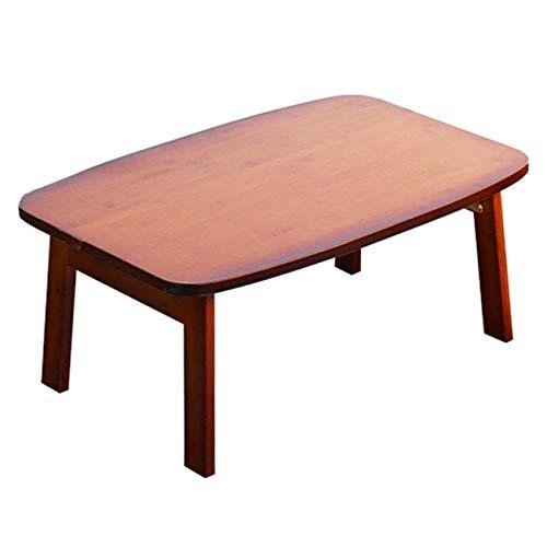 ZCZZ Mesa Plegable - Mesa de bambú con Ventana, Cama, Mesa Plegable,...