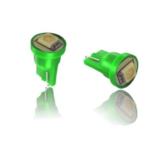 T10SG - Vert SMD LED lampe ampoule de rechange feux de position W5W T10 12V éclairage de plaque d'immatriculation éclairage intérieur avec 5050 SMD