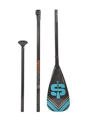 Remo de Stand Up Paddle ajustable de 175 a 215 cm y desmontable en 3 secciones – Carbono, fibra de vidrio y nailon – Modelo Horuz