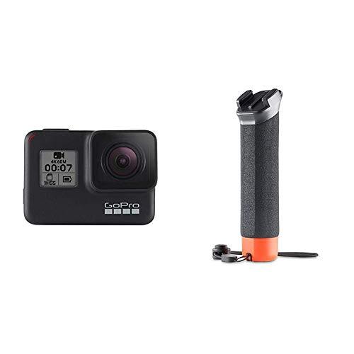 GoPro HERO7 Schwarz - wasserdichte digitale Actionkamera mit Touchscreen, 4K-HD-Videos, 12-MP-Fotos, Livestreaming, Stabilisierung + The Handler (schwimmender Handgriff) schwarz