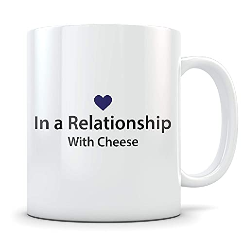 N\A Taza de café Divertida para Amantes del Queso para Cheddar Mozzarella o Colbe Eaters Gran Taza de mordaza para Alguien Que ama Comer Cheeze C6H1XO