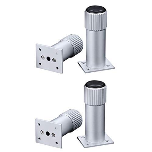JPENG MöBelbeine X4, ErsatzfüßE FüR MetallfüßE, In DIY Tools Round, Aluminium-EdelstahlzubehöR, Tv-Tisch, Schrankbett, Schrauben