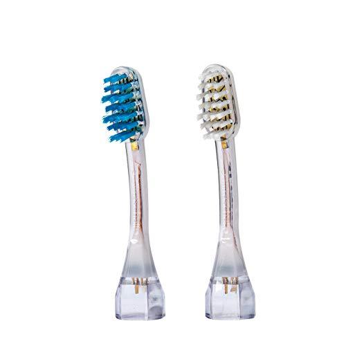 2x emmi®-dent Zahnbürstenaufsatz M2 Wave, für Ultraschallzahnbürste Platinum