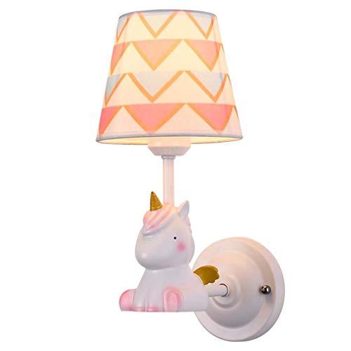 Cartoon wandlampen en wandlampen Moderne wandlampen voor hars kinderkamer meisjes E26 E27 110-240V (zonder lampen)