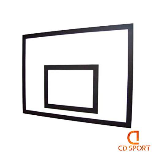 CDsport, Tabellone Basket Regolamentare, per Canestro da Basket Esterno e Interno, Super Resistente, Spessore 0,9 cm, Misura 120x90 cm, qualità Premium