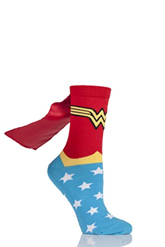 Film & TV Characters Damen 1 Paar DC Wonder Woman Cape Socken sortiert 4-8 Damen
