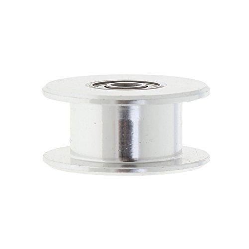 D DOLITY Edelstahl 2GT Zahnriemenrad Zahnrad 3mm Bore Drive Gear für 6mm breite Zahnriemen 3D Drucker Zubehör