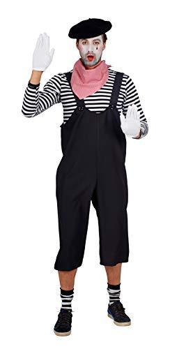 Andrea Moden 415-50/52 - Kostüm Pantomime, Hose, Größe 50/52, Latzhose, Bauarbeiter, Clown, Künstler, Motto Party, Karneval