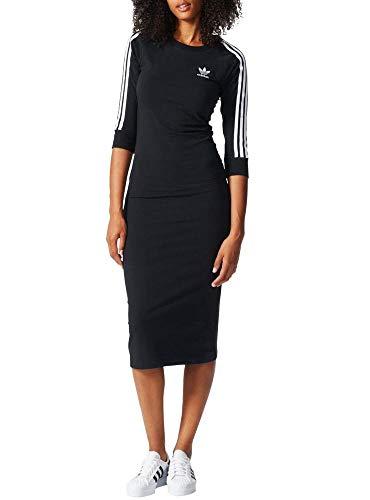 adidas 3Stripes Dress Vestido de Tenis, Mujer, Negro (Negro), 48