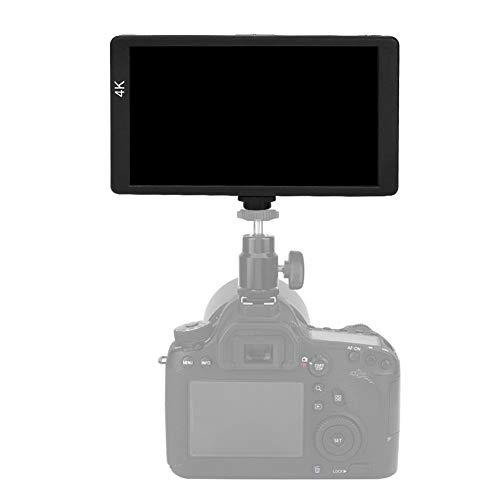 Topiky 5,7 inch camera monitor, draagbare ultradunne 4K IPS Full HD 1920 x 1080 videocamera veldmonitor met stabilisator, HDMI-ingang, standaard 1/4 inch schroefgat