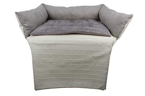 Desconocido ACOMODA Textil - Cama para Perro 90x60, Cama para Mascota Poli Piel y Terciopelo. (Crema)