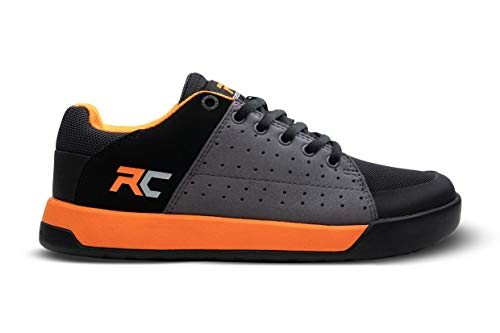 Ride Concepts Youth Livewire Flat Pedal Mountain Bike Shoe Charcoal/Orange 5 M US