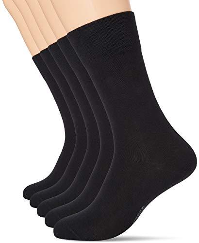 Schiesser Herren Multipack 5 Pack Herrensocken Strümpfe Socken, schwarz, 43/46 (5er Pack)