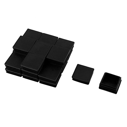 Sourcingmap/® Caoutchouc antid/érapant Meubles Pieds carr/és Tampon adh/ésif Noir 64pcs Protecteur Plancher