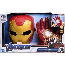 Marvel Avengers Iron Man Age of Ultron Arc FX Armor Set Glove and Mask Sounds Lights up Motion Activated Rare and Discontinued by Manufacturer Costume Play and Pretend