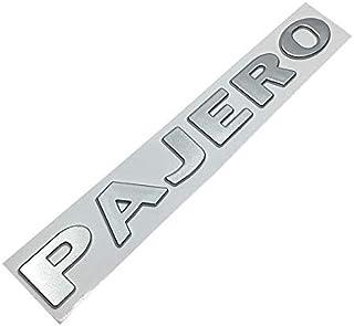 シルバー、ゴールドのために三菱パジェロレターエンブレムインテリアステッカーABS 3Dオートフロントフェンダーバンパートランクフォントのロゴデカール車のチューニング 拓実-たくみ 琢磨 わたる (Color Name : Silver)