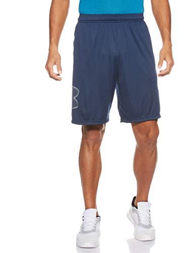 Under Armour Herren Tech Graphic Short atmungsaktive Sweatshorts für Männer, komfortable Kurze Hose mit Loser Passform, Academy/Steel, M