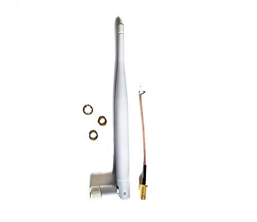 Technikkram 868 MHz antenne SMA voor CCU3 CCU2 Raspberry Pi CUL USB CC1101 GSM ELV kit RaspberryMatic pivCCU Homematic Fibaro Pigtail kabel weiß Kipp- und Schwenkbar 5dBi