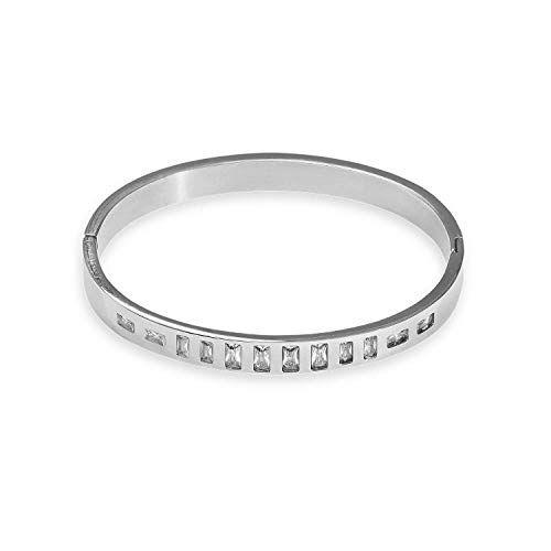 Xenox Damen Armreif Edelstahl in Silber - Earth X6296