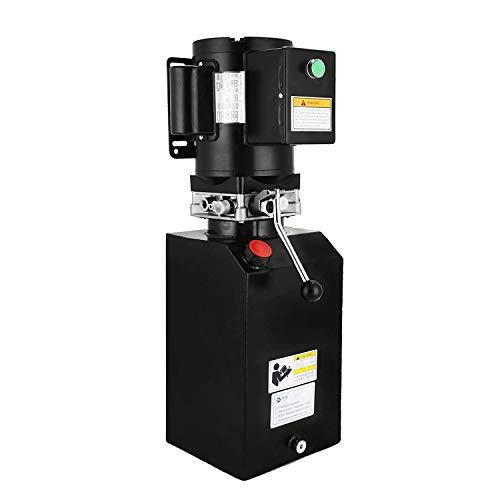 OldFe14L Hydraulikpumpe 220V Hydraulikaggregat 25,2 kg Elektrische hydraulikpumpe mit Tank aus Metall Eisen schwarz