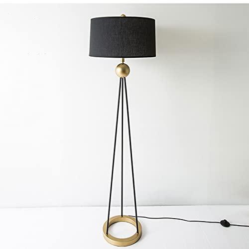 Lámpara de Pie Lámpara de pie trípode, lámpara de pie mediodía, diseño moderno estudiando luz para sala de estar, dormitorio, sala de estudio y oficina, llama de lampara de flaxen Iluminación Interior