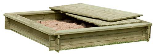 Gartenpirat Sandkasten | Aus Holz 30 mm imprägniert mit Deckel