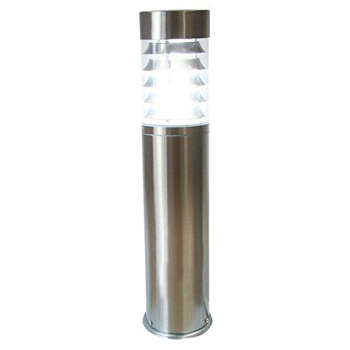 Sockelleuchte Pollerleuchte Außenleuchte LED Garten IP44 E27 Edelstahl Wegelampe