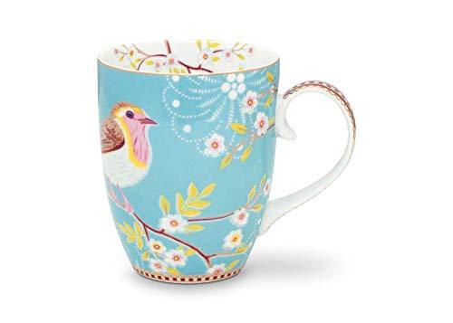 Pip Studio - Taza de Desayuno, diseño de pájaro, Color Azul
