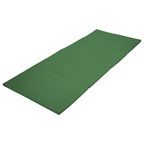 ECR4Kids SoftZone 4-Section Folding Panel Kids Tumbling Exercise Mat, 4 x 10 Feet, 1.5 Inches Thick, Green