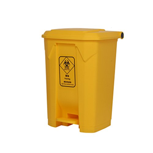 Buy LXF Outdoor Waste Bins Outdoor Trash can, Hotel Large Household Trash can Black Wheelie bin (Col...
