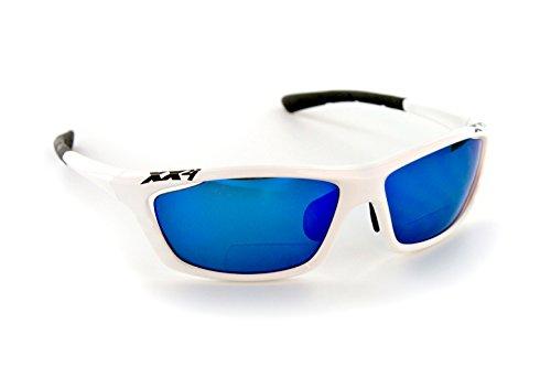 XX2i Optics Men's USA1 Reader Sunglasses Grey Tinted Lens White Gloss 1.5