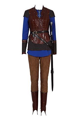 Bilicos Queen Lagertha Traje de Cosplay Disfraz Hombres Caballeros S