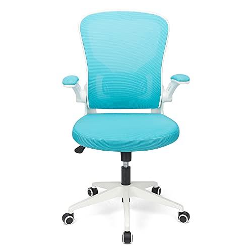 BlueOcean Furniture - Sedia ergonomica da ufficio in rete, supporto per schienale e braccioli regolabili, per computer e ufficio, per casa, lavoro, studio