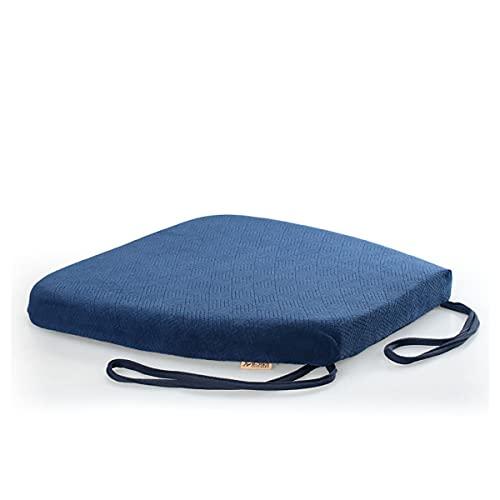 PQQ Cuscino per Sedia Cuscini per sedili in Memory Foam Cucina Sala da Pranzo Sgabello per Ufficio Sedie Antiscivolo Imbottiture per sedili Lavabili (Color : Blue, Size : 42x40x4cm)