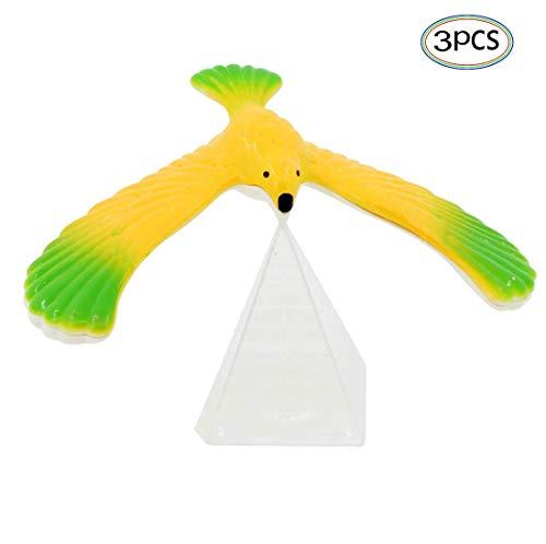 Generisch Schwebevogel 3 Stücke Kunststoff Balancieren Vogel Spielzeug für Kinder Balance Adler