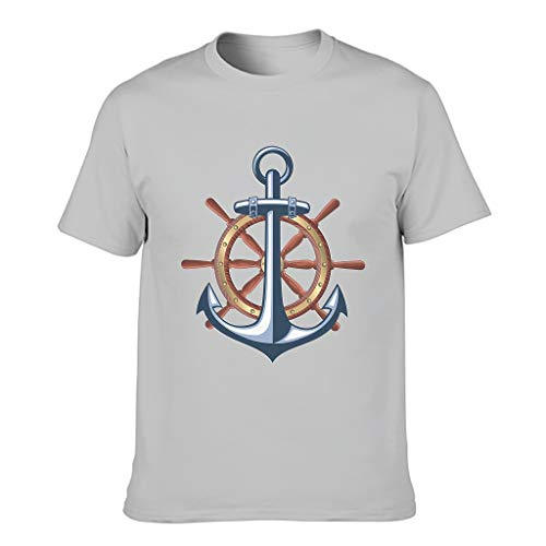 Camisetas de algodón brújula para hombre - Nautical Elements Fashion manga corta