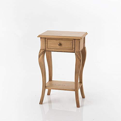 Amadeus - Table Chevet Loire Naturel 40 cm x 65 cm x 30 cm
