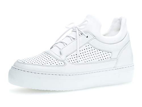 Gabor Damen Skater Sneaker 23.310.21, Frauen Sportschuh,Low-Top,Schnürer,Halbschuh,Plateau-Sohle,Weiss,40.5 EU / 7 UK