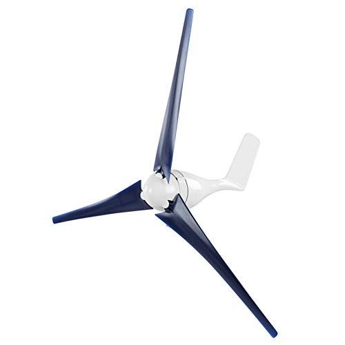 Kit de generador de viento, generador de turbina de viento de 800 W, controlador de viento de 3 palas, generador de molino de viento para carga marina en el hogar(Blue 24V)