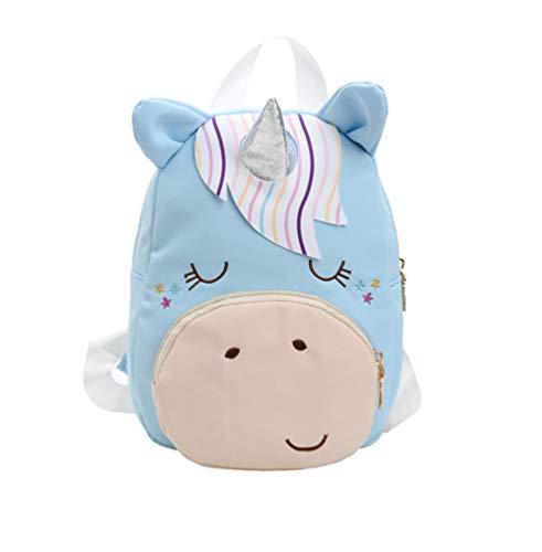 JameStyle26 Einhorn Unicorn Kinderrucksack Rosa oder Blau Kindergarten Rucksack Schultasche Backpack Junge & Mädchen (Blau)