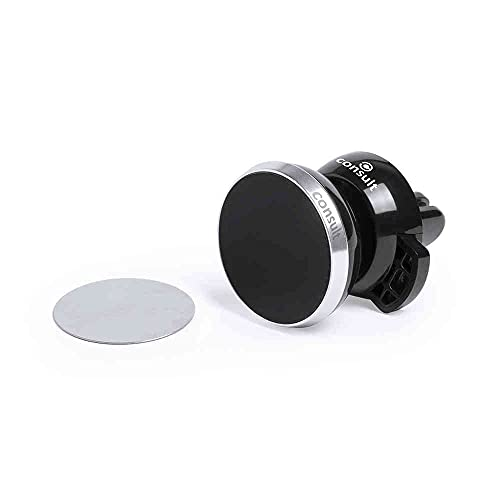 Kuikit - Soporte Móvil Coche con Iman, Car Phone Holder Magnet. Rotación 360° Potente Imán para Todos los Telefonos. Mobiler Halter für Auto mit Magnet (Plateado)