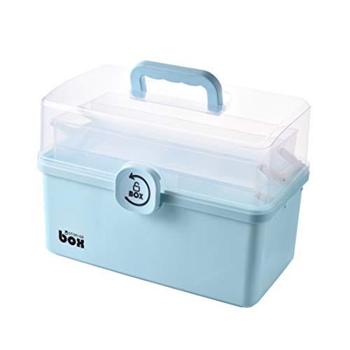 Hausapotheke Box Gross, Teakpeak 3 Ebenen Medizinschrank XXL tragbar Medizinbox Hausapotheke Erste Hilfe Box Hausapotheke Aufbewahrung