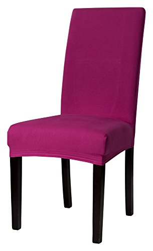 Bi-Elastic Stuhlhusse Stuhlüberzug Spannbezug Husse Farbe: pink